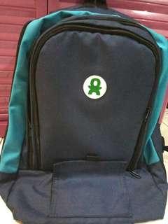 Diaper Backpack Baby Go-inc tipe Plum warna Navy Blue.