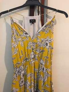 Bardot floral midi/maxi dress