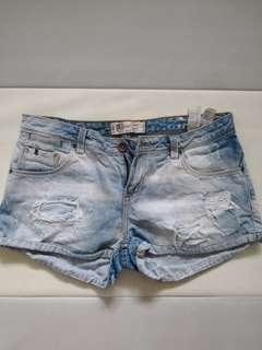 Distressed Zara shorts