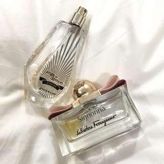 Givenchy & salvatore ferragamo perfume