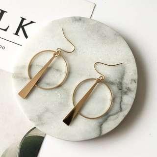 Geometric Circle/ Triangle Simple Retro Earrings