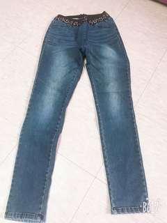 🚚 正韓彈性顯瘦牛仔褲F尺寸