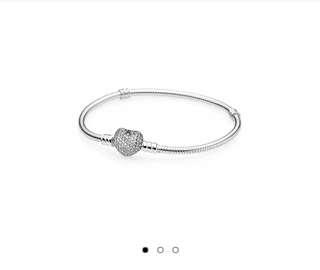 PANDORA :: Moments Silver Bracelet (Pave heart)