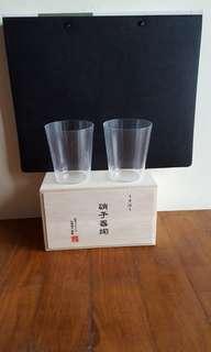 Pair of ultra thin usuhari glasses