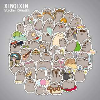 (Pre-order) 100 pcs Pusheen stickers