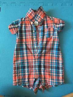 Carter's plaid onesie