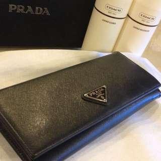 Authentic Black Prada Wallet
