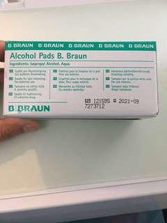 BRAUN ALCOHOL PADS 100