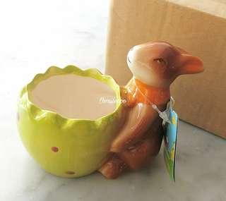 小兔陶瓷小花盆