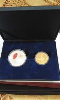 马来西亚中国乒乓赛纪念币
