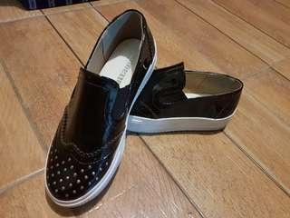 AttaGirl Slip On Black Shoes