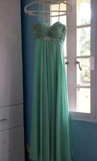 Long gown light green