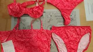 👩Rose Underwear 玫瑰圖案女仔內衣( 4 items )