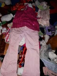Barbie top wd h&m pants set