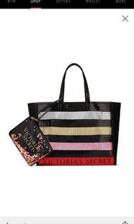 Victoria Secret Tote Bag and Sequence Bag