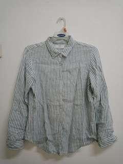 Uniqlo Blue&White Stripes Top