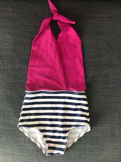 Vintage girl swimsuit