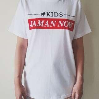 New kaos kids jaman now white all size