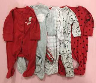 6pcs (Mothercare & Cotton On Sleepsuits)