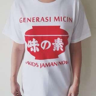 Kaos Generasi Micin white - all size women