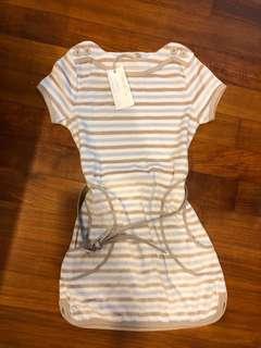 BN Chateau de Sable Blue Striped Dress w belt 8Y