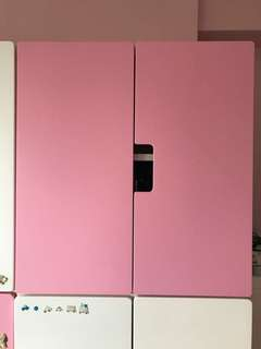 Preloved ikea kids cabinet with pink doors