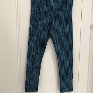 NEW Lorna Jane patterned gym workout yoga leggings xs green black blue