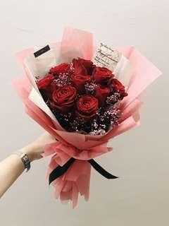 9 roses bouquet! - eternal love