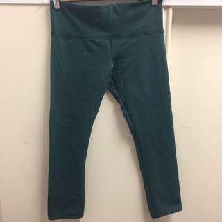 Lorna Jane XS 7/8 Green Tights Gym Leggings
