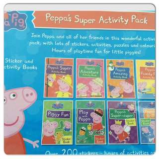 Peppa Pig Activity Pack Of 8 Books