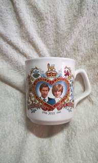 Vintage H.R.H. Prince Charles & Lady Diana Marriage Mug