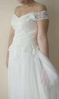 Simple & Elegant White Gown
