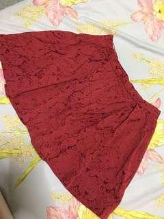 Temt red skirt