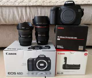 Excellent condition Canon 60D and lenses