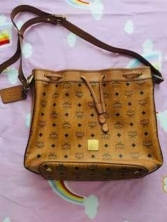 Preloved Authentic MCM Bucket bag