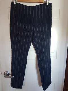 Tailored Pinstripe Pants