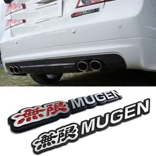 3D Metal Mugen Emblem Logo Rear Badge Car Trunk Sticker Styling