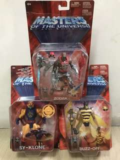 Masters Of The Universe MOTU He-man Zodak, SY-Klone n Buzz Off Set of 3