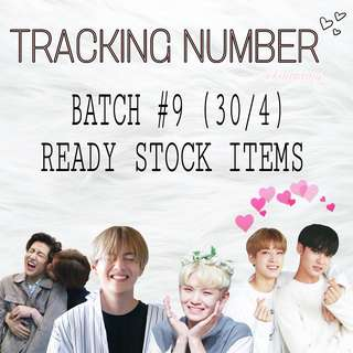 Batch 9 Tracking Number