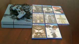 Ps4 500gb + 1 Controller + 8 Games