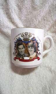 Vintage H.R.H Prince of Wales & Lady Diana Marriage Mug