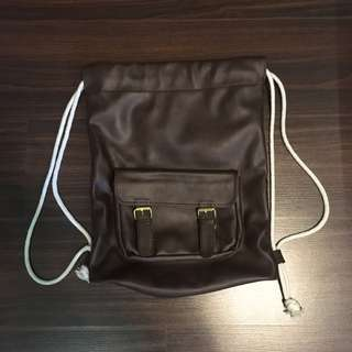 The Satchel Diva's Leather Drawstring Bag