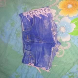 Short maong with side lace
