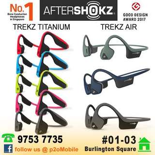 AfterShokz Trek Air   Titanium Bone Conduction Bluetooth