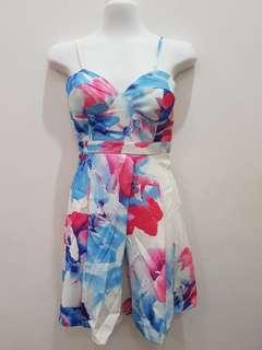 Dress floral scuba