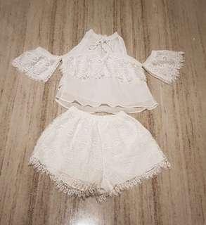 Selfportrait white lace set