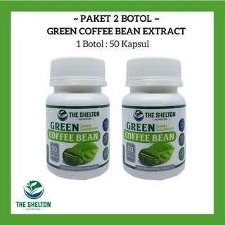 2 Botol Green Coffee DIET/ Kopi Hijau / Kopi Herbal - The Shelton Nutrition - 100%