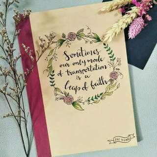 Customised handdrawn notebooks