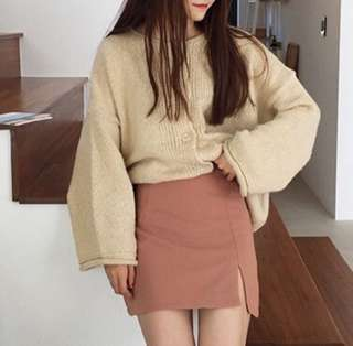🚚 粉色a字裙