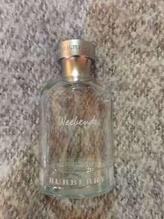 Burberry Weekend empty perfume bottles